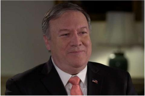 USA:s utrikesminister Mike Pompeo under en intervju med EWTN ProLife Weekly